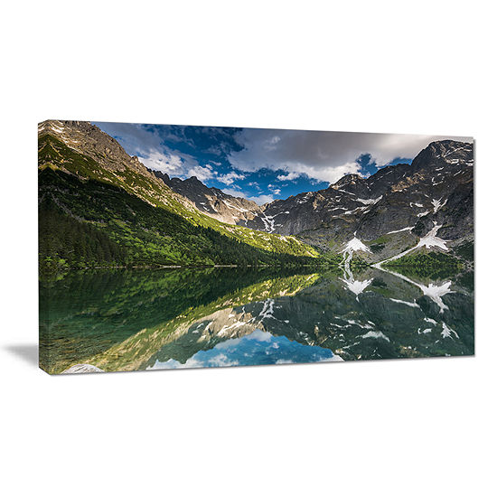 Designart Reflection Of Mountain Peaks Canvas Art