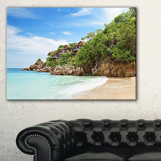 Designart Resorts On The Rock Canvas Art