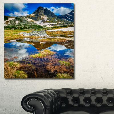 Designart Rila Lakes District With Reflection Canvas Art