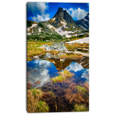 Designart Rila Lakes District With Reflection Canvas Art