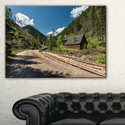 Designart Road In Chocholowska Valley Canvas Art