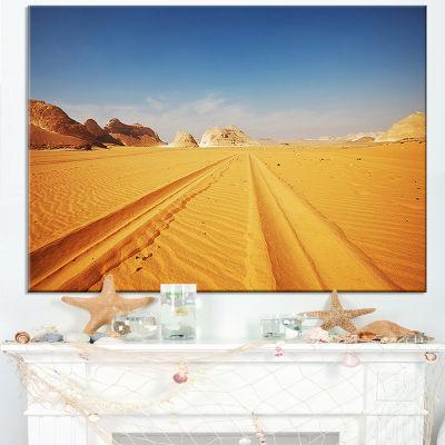 Designart Road In White Desert Egypt Canvas Art