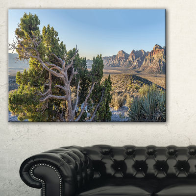 Designart Large Rock Canyon Panorama Canvas Art