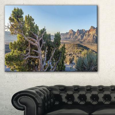 Designart Large Rock Canyon Panorama Canvas Art