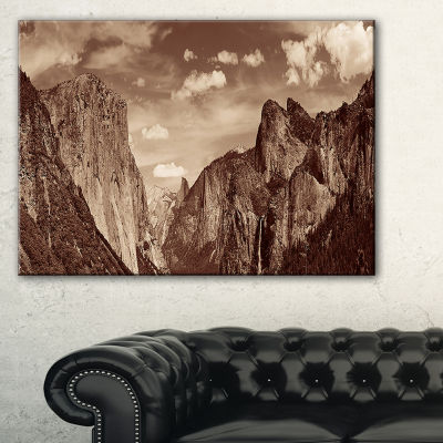 Designart Rocks And Forest In Black And White Canvas Art