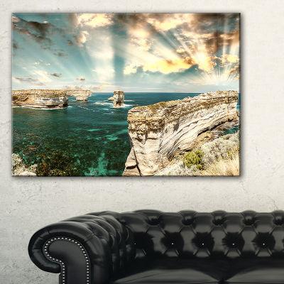 Designart Rocks At Great Ocean Road Victoria Canvas Art