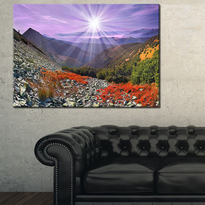 Designart Rocky And Colorful Carpathian Canvas Art