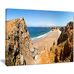 Designart Rocky Bay Portugal Panorama Canvas Art
