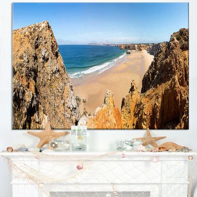 Designart Rocky Bay Portugal Panorama Canvas Art