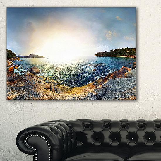 Designart Rocky Coast In Andaman Sea Canvas Art