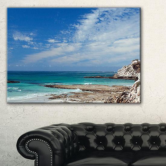 Designart Rocky Coast Panoramic View Canvas Art