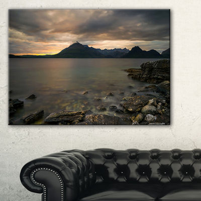 Designart Rocky Coastline Of Loch Scavaig Canvas Art