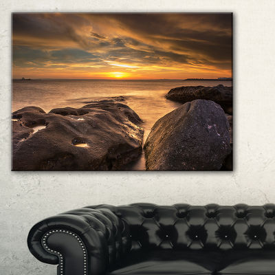 Designart Rocky La Perouse Beach In Sydney Canvas Art