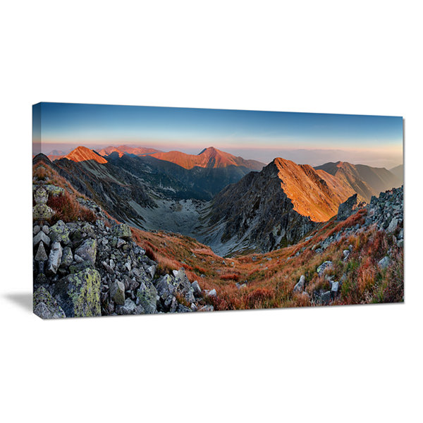 Designart Rocky Slovakia Mountains Canvas Art