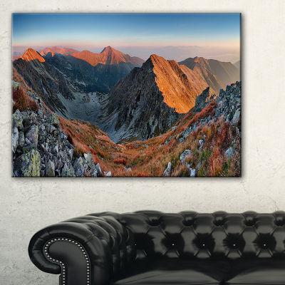 Designart Rocky Slovakia Mountains Canvas Art