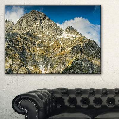 Designart Rocky Summit In Tatra Mountains Canvas Art