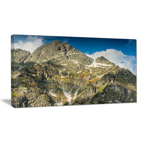 Designart Rocky Summit In Tatra Mountains Canvas Art