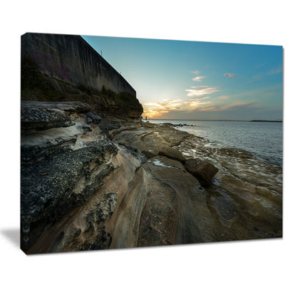 Designart Rocky Sydney Beach View Canvas Art