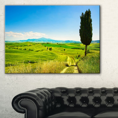Designart Rural Landscape Countryside Farm Canvas Art