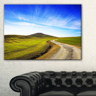 Designart Rural Road And Olive Trees Uphill Canvas Art