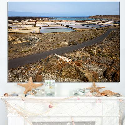 Designart Salt In Lanzarote Spain Musk Pond Canvas Art
