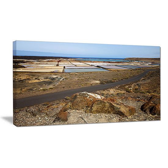 Designart Salt In Lanzarote Spain Musk Pond Canvas Art