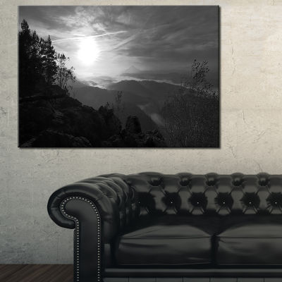 Designart Sandstone Peaks And Hills Canvas Art