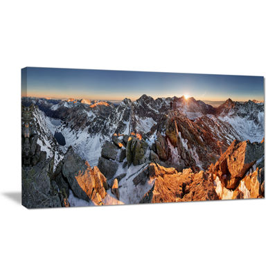 Designart Scenery Of High Mountain With Lake Canvas Art