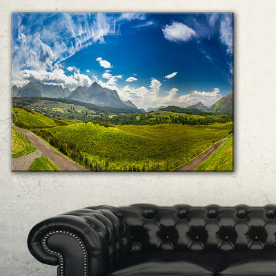 Designart Scottish Highlands Panoramic View Canvas Art