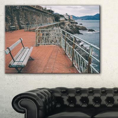 Designart Seating In Genoa Nervi Coast Canvas Art