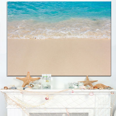 Designart Serene White And Blue Waters Canvas Art