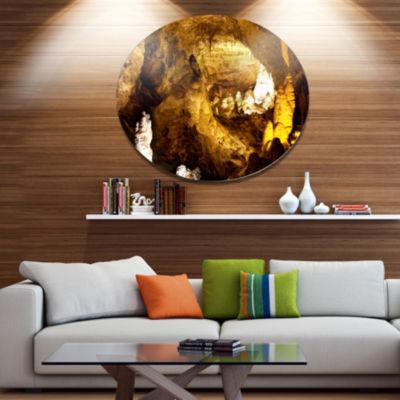 Design Art Carlsbad Caverns National Park Oversized Landscape Oversized Circle Metal Artwork