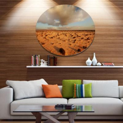Design Art Desert in Western Sahara Disc LandscapeCircle Metal Wall Decor