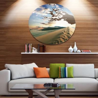 Design Art Fantastic View of Desert Dunes Landscape Wall Art on Metal Wall