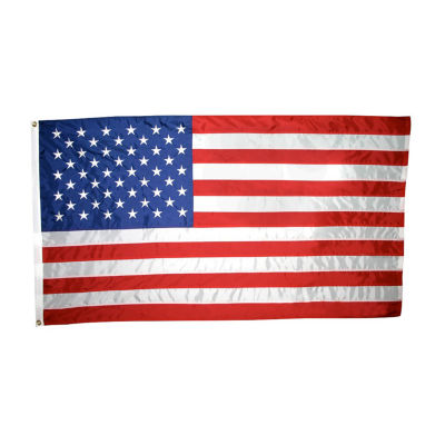 American Flag 5x8 ft. Nylon SolarGuard Nyl-Glo by Annin Flagmakers 100% Made in USA with Sewn Stripes Embroidered Stars and Brass Grommets Model 2270