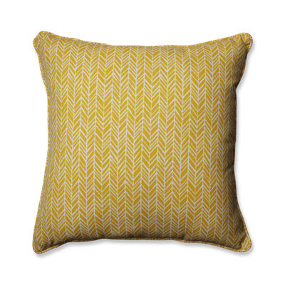 Pillow Perfect Herringbone Square Outdoor/OutdoorFloor Pillow