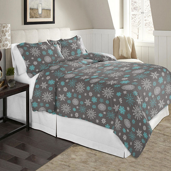 Celeste Home Print Cotton Flannel 190GSM Duvet Set