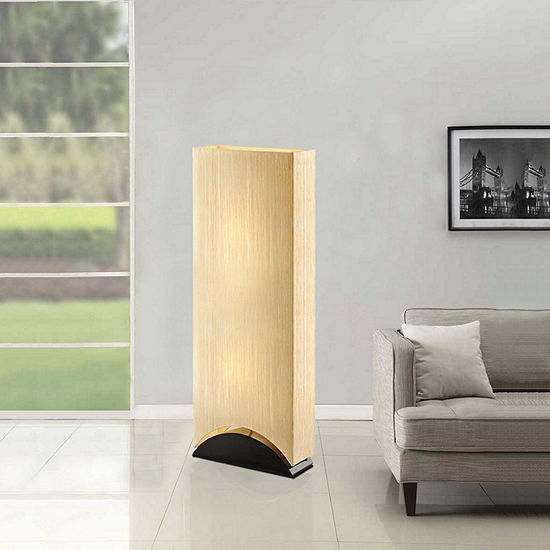 Tenbury Wells Collection Sakura 42-inch Modern & Contemporary Premium Shade Floor Lamp with Black Lacquer Wood Base