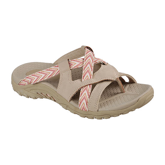 Skechers Womens Reggae - Soundproof Slide Sandals