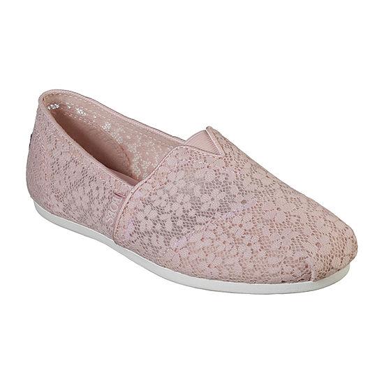 Skechers Womens Bobs Plush Closed Toe Slip-On Shoe