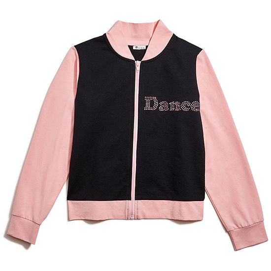 Jacques Moret Dance Girls Lightweight Bomber Jacket - Big Kid