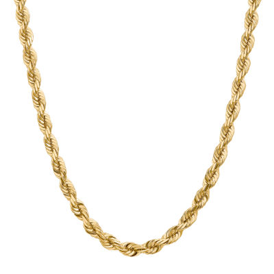14K Gold 20 Inch Solid Rope Chain Necklace