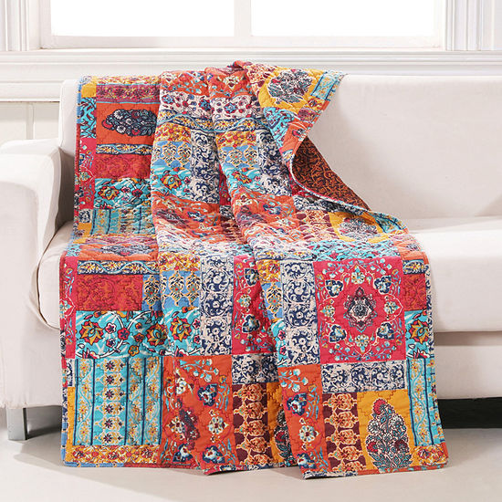 Barefoot Bungalow Indie Reversible Midweight Throw