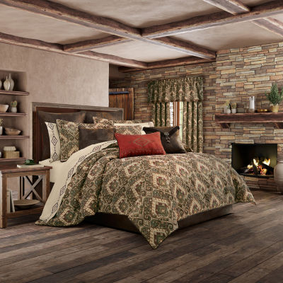 Queen Street Tacoma 4-pc. Damask + Scroll Heavyweight Comforter Set