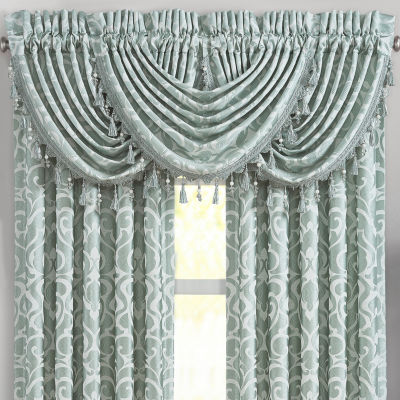 Queen Street Luther Rod-Pocket Waterfall Valance