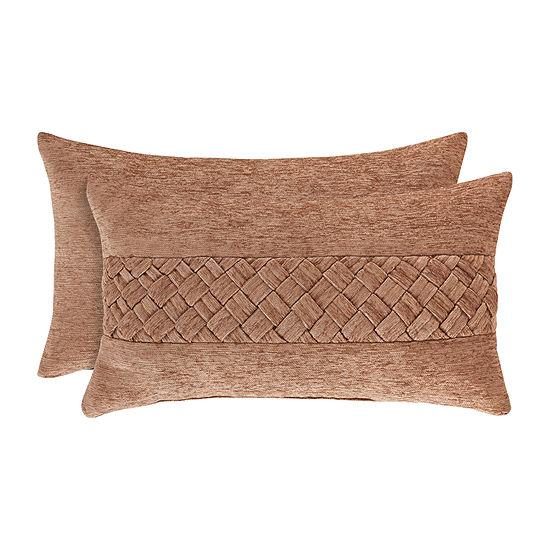 Queen Street Sussex Coral Rectangular Throw Pillow