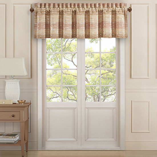 Queen Street Sussex Coral Rod-Pocket Tailored Valance