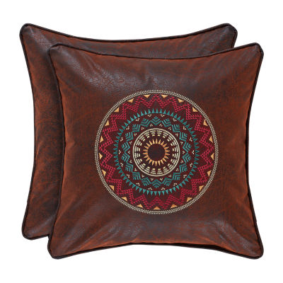 Queen Street Kemble 18 Inch Embellished Square Throw Pillow