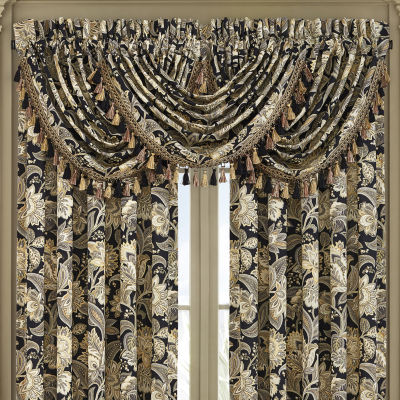 Queen Street Maddock Rod-Pocket Waterfall Valance