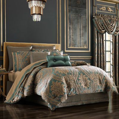 Queen Street Modesto 4-pc. Damask + Scroll Heavyweight Comforter Set